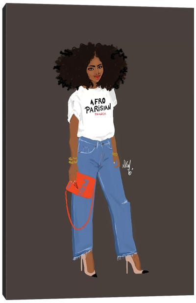 Afro-Parisianer Canvas Art Print