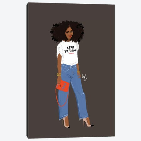 Afro-Parisianer Canvas Print #KOB5} by Nicholle Kobi Canvas Wall Art