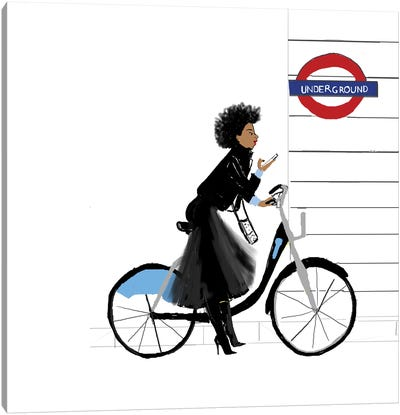 Bike Girl Canvas Art Print
