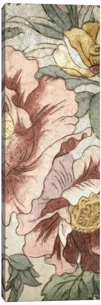 Earthtone Floral Panel I Canvas Art Print