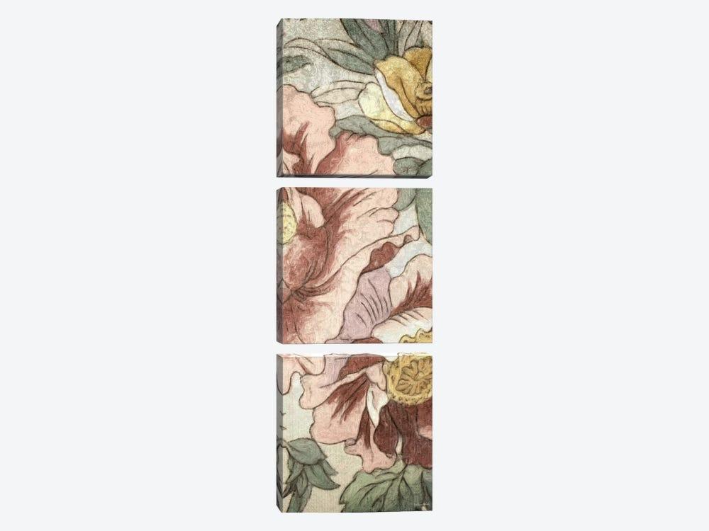 Earthtone Floral Panel I by Catherine Kohnke 3-piece Canvas Art Print