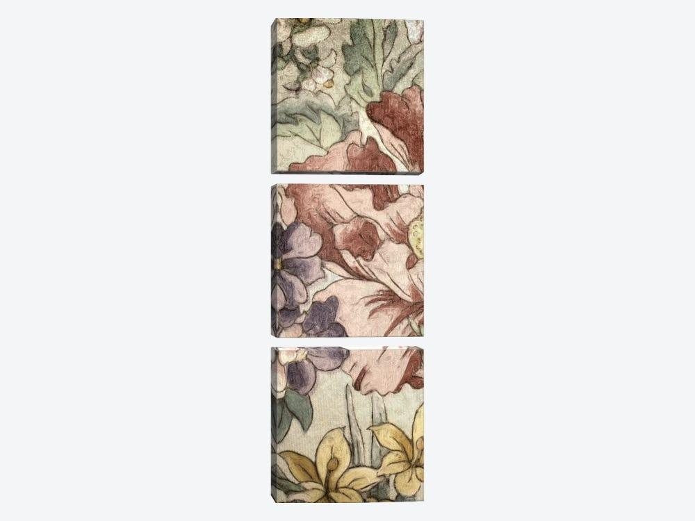 Earthtone Floral Panel II by Catherine Kohnke 3-piece Canvas Wall Art