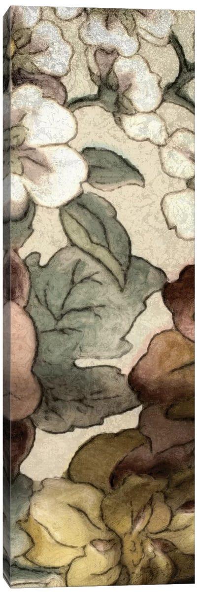 Earthtone Floral Panel III Canvas Art Print