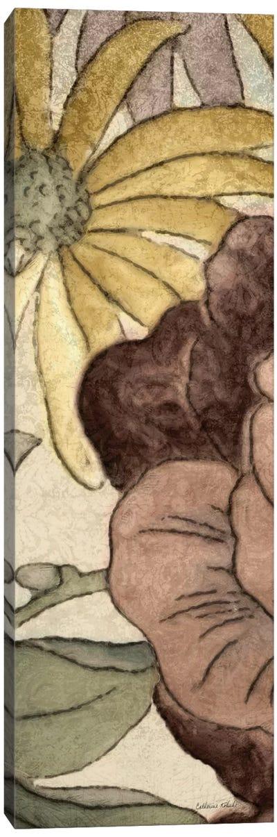 Earthtone Floral Panel IV Canvas Art Print