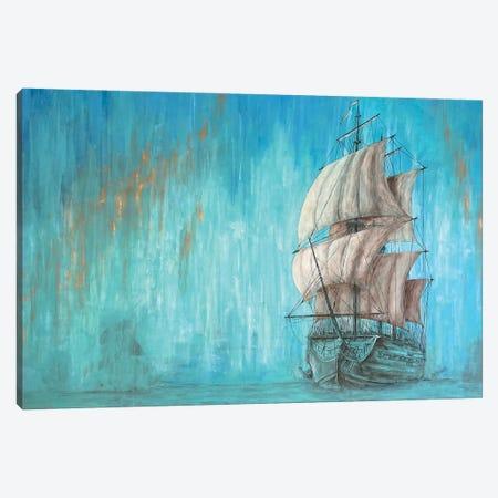 Green Shadow - Sailing Ship Canvas Print #KOO20} by Koorosh Nejad Art Print