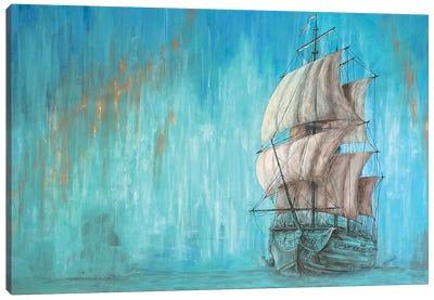 Green Shadow - Sailing Ship Canvas Art Print
