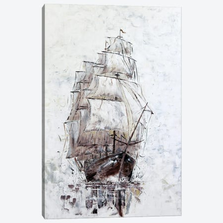 Old sailing boat Canvas Print #KOO25} by Koorosh Nejad Canvas Wall Art