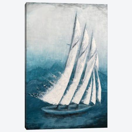 Adventure - Sailing Boat - Contemporary Painting By Koorosh Nejad Canvas Print #KOO29} by Koorosh Nejad Canvas Print