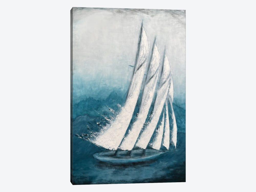 Adventure - Sailing Boat - Contemporary Painting By Koorosh Nejad by Koorosh Nejad 1-piece Canvas Artwork
