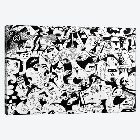 The Sun - Ancient Mayans Canvas Print #KOO5} by Koorosh Nejad Art Print