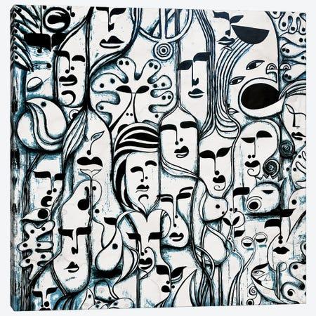 Roots Light Brown Canvas Print #KOO61} by Koorosh Nejad Canvas Art Print
