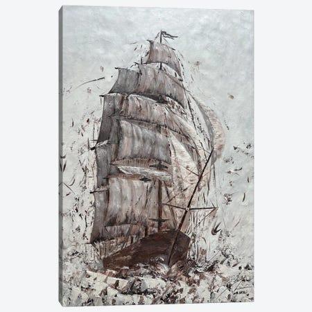 Amerigo - Triple Mast Tall Ship Canvas Print #KOO66} by Koorosh Nejad Canvas Wall Art