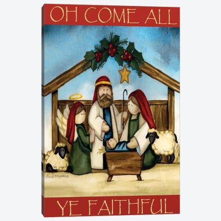 Come All Ye Faithful Canvas Print #KOR2} by Laurie Korsgaden Canvas Wall Art