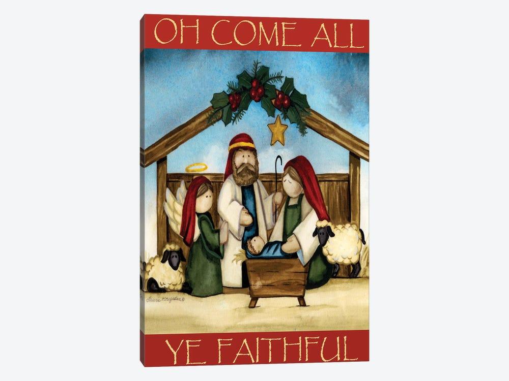 Come All Ye Faithful by Laurie Korsgaden 1-piece Canvas Wall Art