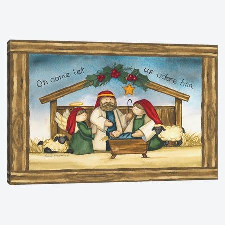 Come Let Us Adore Him Canvas Print #KOR3} by Laurie Korsgaden Canvas Artwork