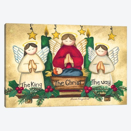 Praying Angels Canvas Print #KOR6} by Laurie Korsgaden Canvas Print