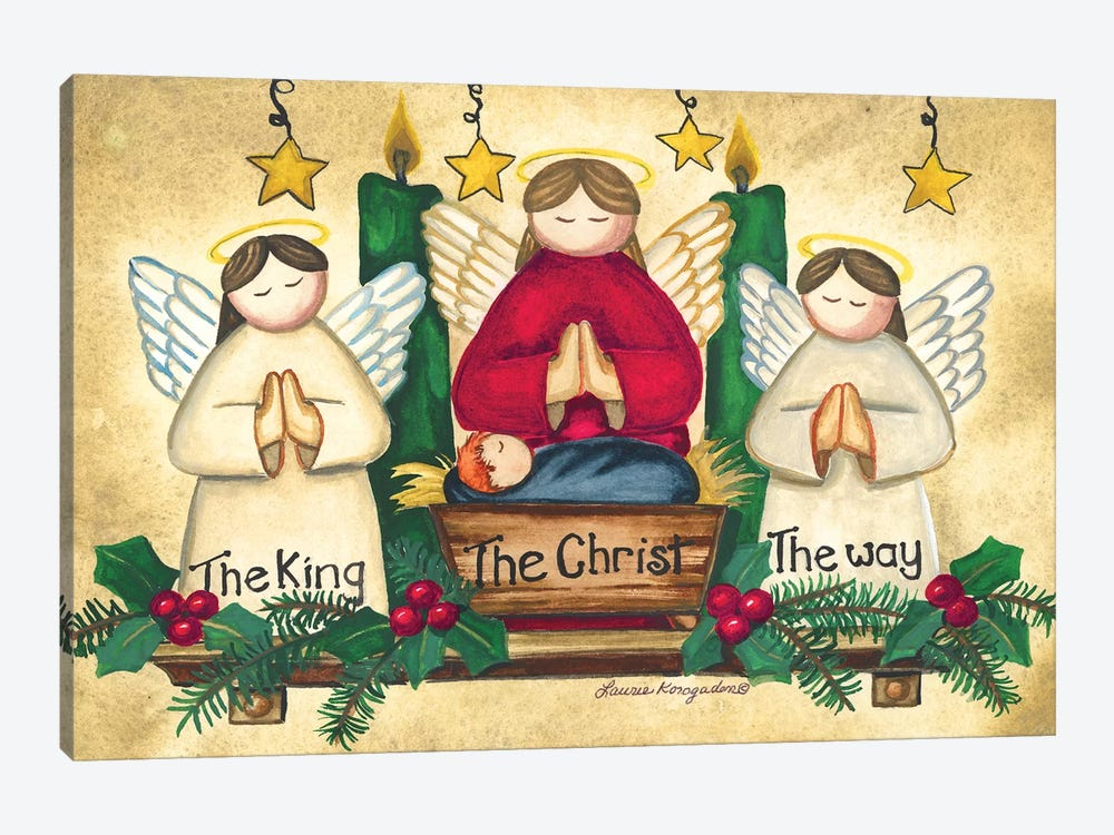 Praying Angels by Laurie Korsgaden 1-piece Canvas Art