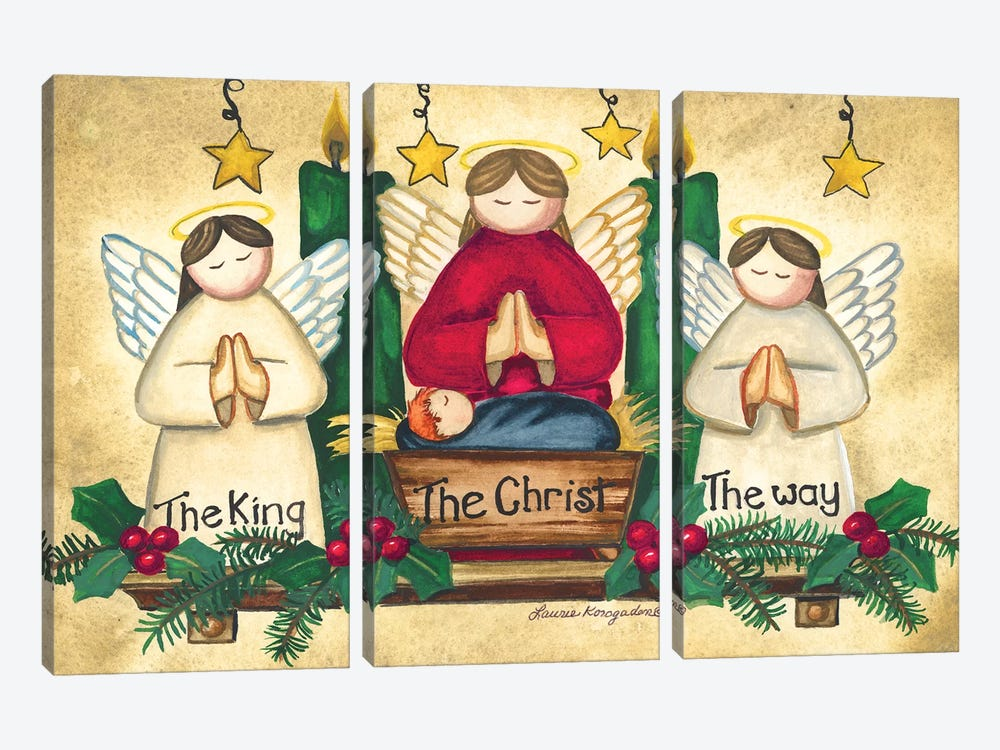 Praying Angels 3-piece Canvas Wall Art
