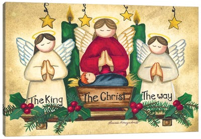 Praying Angels Canvas Art Print