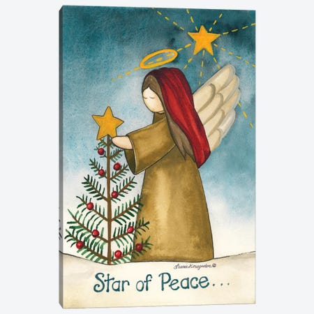 Star Of Peace Canvas Print #KOR7} by Laurie Korsgaden Art Print