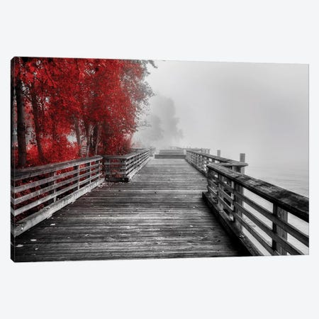 Fall Walkway Canvas Print #KOS1} by Vladimir Kostka Art Print