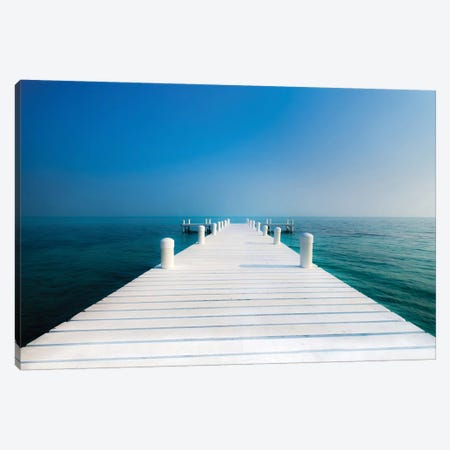 The Pier Canvas Print #KOS4} by Vladimir Kostka Canvas Art