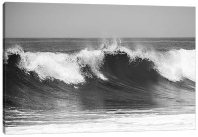 Wave B&W Canvas Art Print