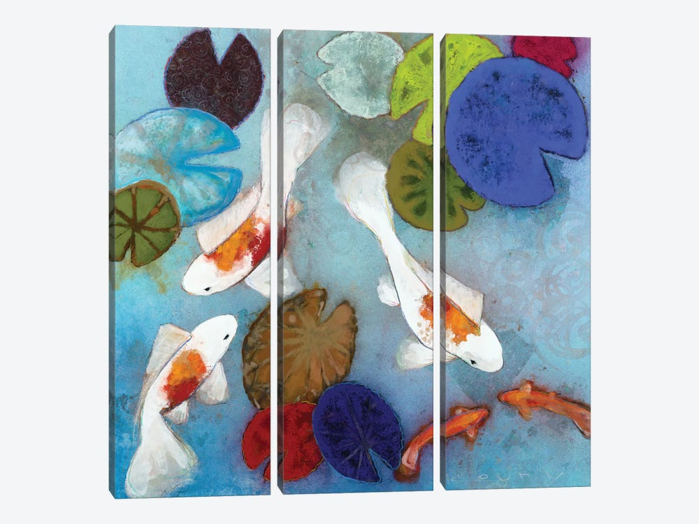 Koi I 3-piece Canvas Wall Art