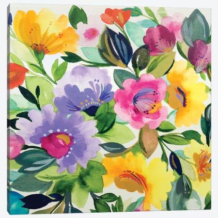 Lavender Zinnias II Canvas Print #KPA103} by Kim Parker Canvas Artwork