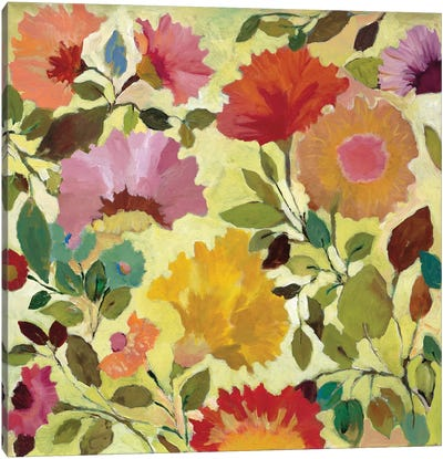 Nasturtiums Canvas Art Print