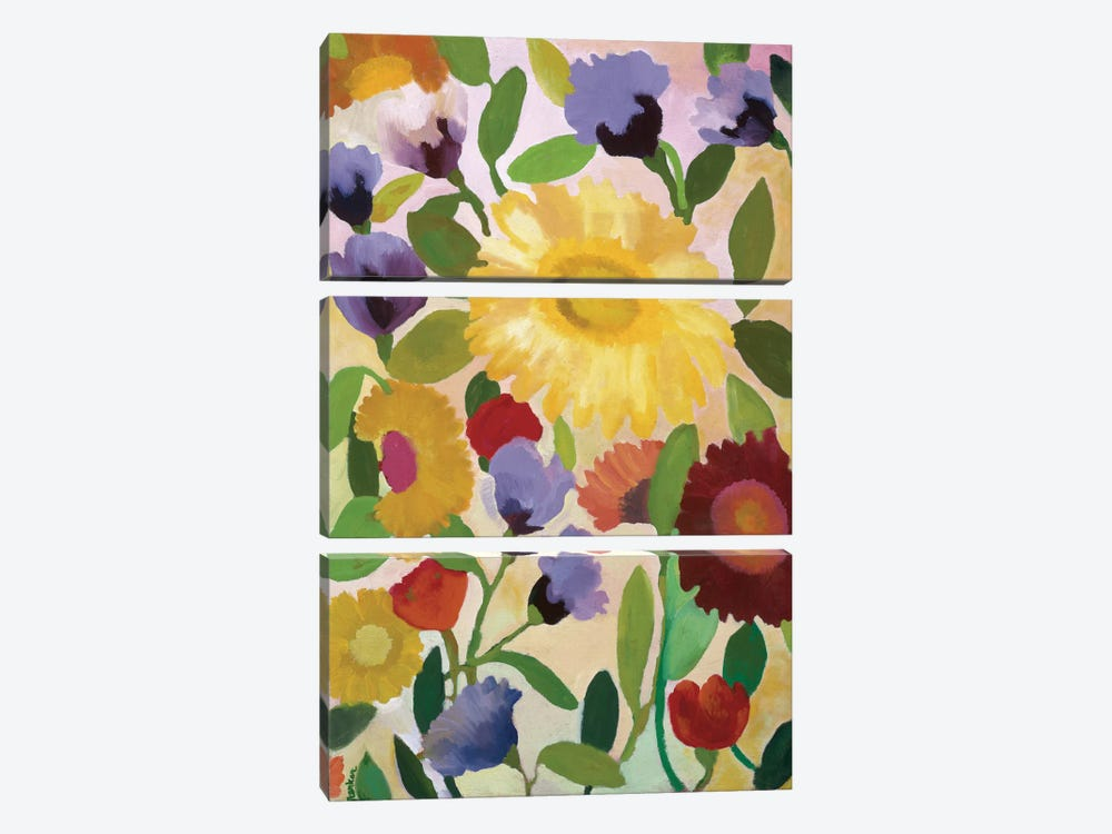 Irises by Kim Parker 3-piece Canvas Artwork