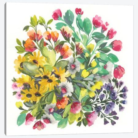 Wildflowers Canvas Print #KPA123} by Kim Parker Canvas Artwork