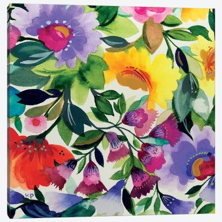 Lavender Zinnia III Canvas Print #KPA128} by Kim Parker Canvas Artwork