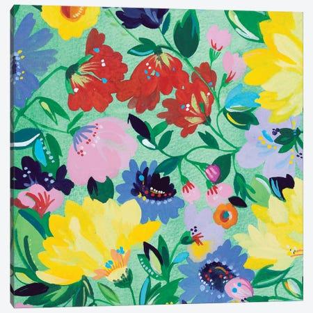 Mint Garden I Canvas Print #KPA131} by Kim Parker Canvas Print