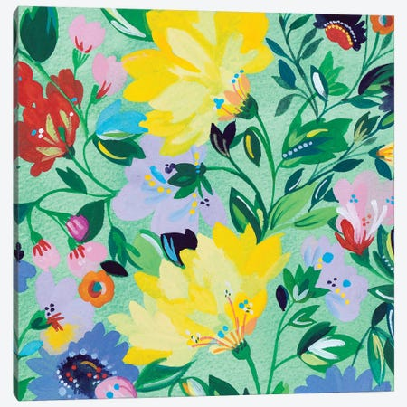 Mint Garden II Canvas Print #KPA132} by Kim Parker Canvas Print