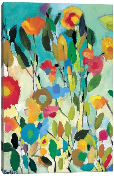 Turquoise Garden Canvas Art Print