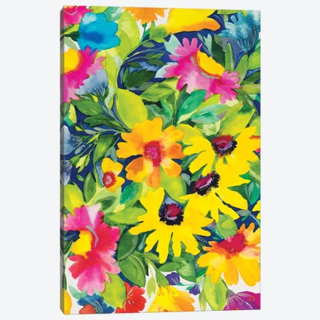 Summer Bouquet Canvas Print #KPA151} by Kim Parker Art Print