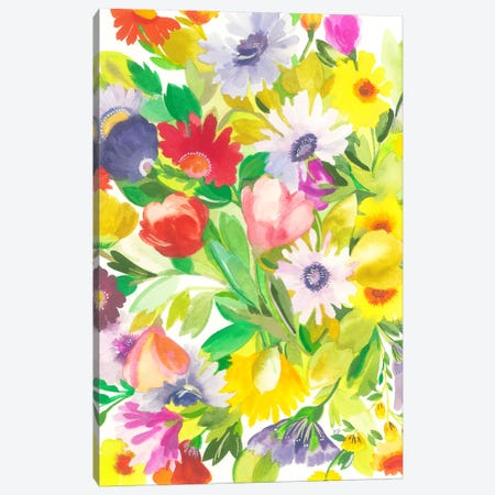 April Tulips 3-Piece Canvas #KPA157} by Kim Parker Canvas Artwork