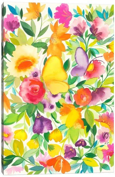Monarch Garden Canvas Art Print