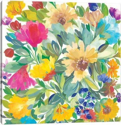 Meadow Bouquet Detail Canvas Art Print