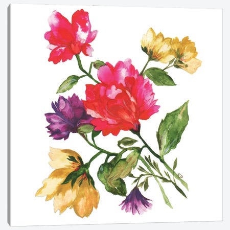 Carnations Canvas Print #KPA190} by Kim Parker Canvas Print
