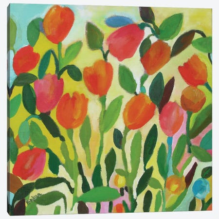Tulip Garden Canvas Print #KPA23} by Kim Parker Canvas Art