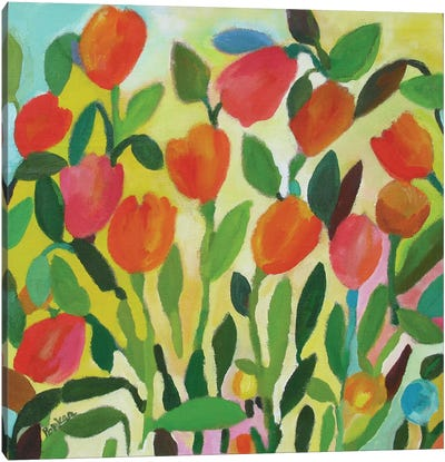 Tulip Garden Canvas Art Print