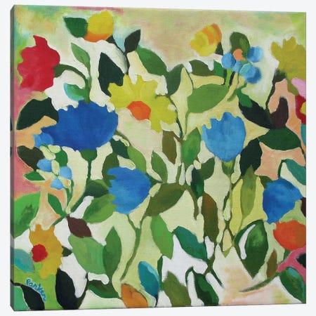 Blue Tulips Canvas Print #KPA24} by Kim Parker Canvas Print