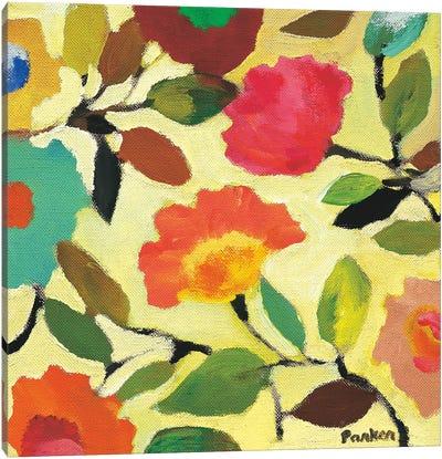Floral Tile IV Canvas Art Print