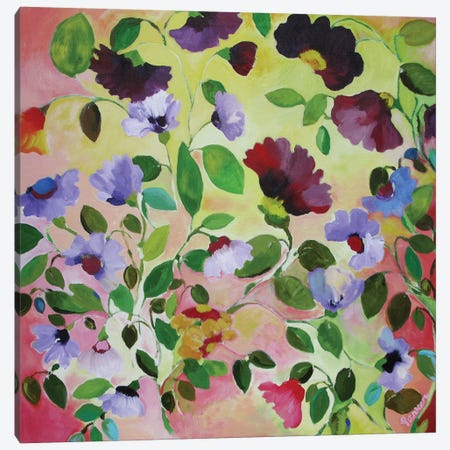 Morning Glories Canvas Print #KPA25} by Kim Parker Art Print