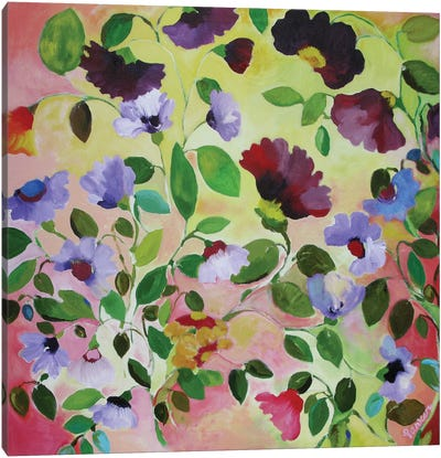 Morning Glories Canvas Art Print
