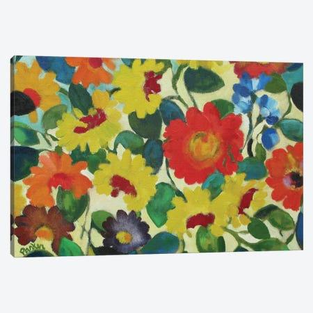 Zinnia Meadow Canvas Print #KPA29} by Kim Parker Canvas Art