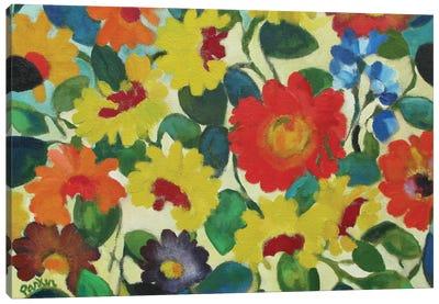 Zinnia Meadow Canvas Art Print