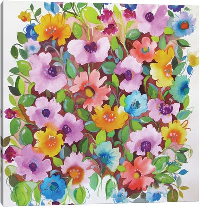 Summer Violets Canvas Art Print